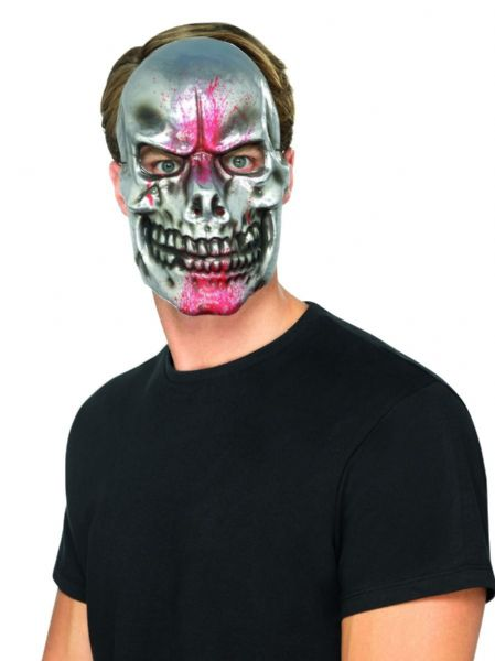 Blood Splatter Skull Mask